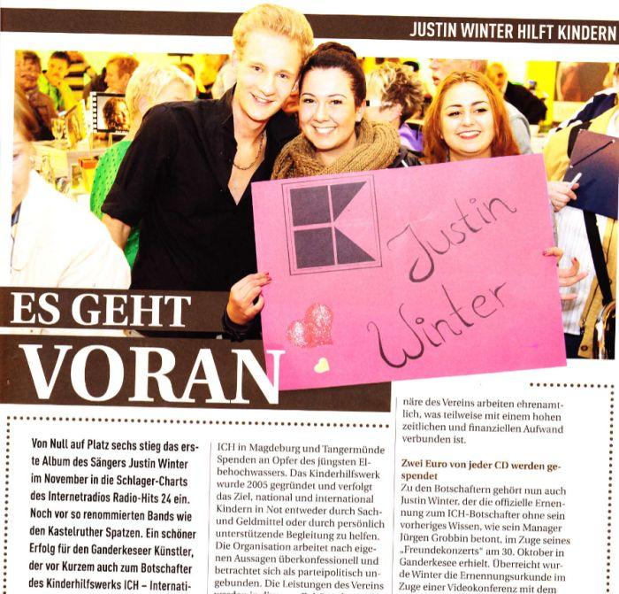 2013-012-03 Justin Winter wird Botschafter Bild 1