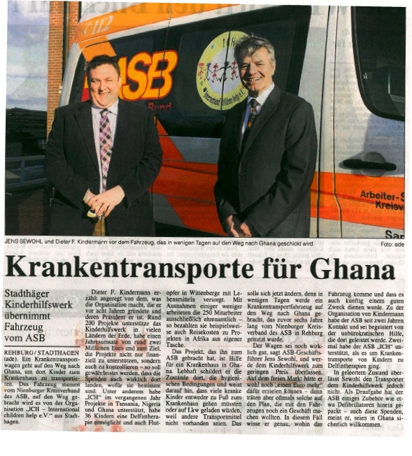 2014-02-24 Krankentransporte für Ghana