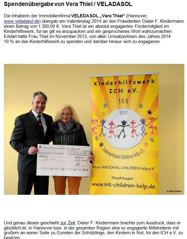 2014-02-24 Spendenübergabe von Vera Thiel - VELADASOL