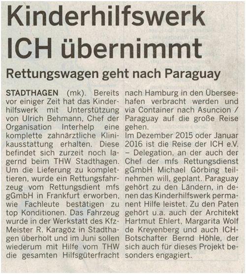 2015-06-21_Schaumburger_Wochenblatt_Paraguay_Artikel