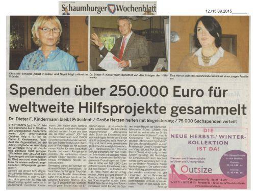 2015-09-15 Schaumburger_Wochenblatt_zur_Jahreshauptversammlung_2015_Vorschau