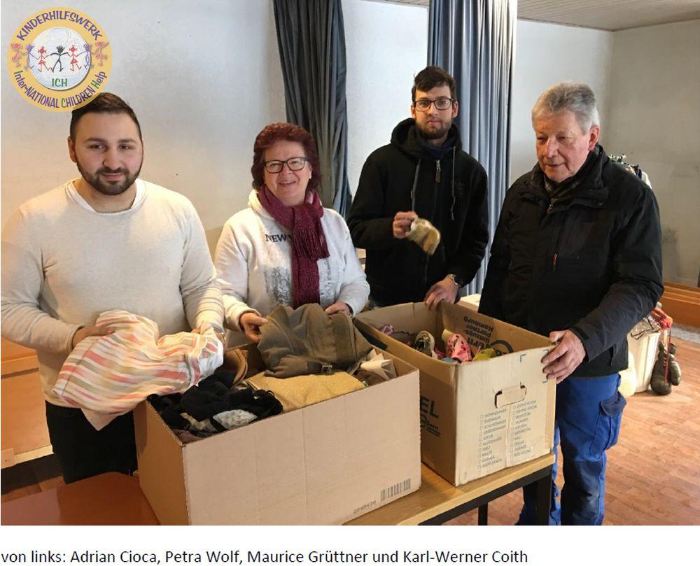 Adrian Cioca, Petra Wolf, Maurice Grüttner und Karl-Werner Coith ICH Inter-national Childen help e.V. Stadhagen www.ichev.de