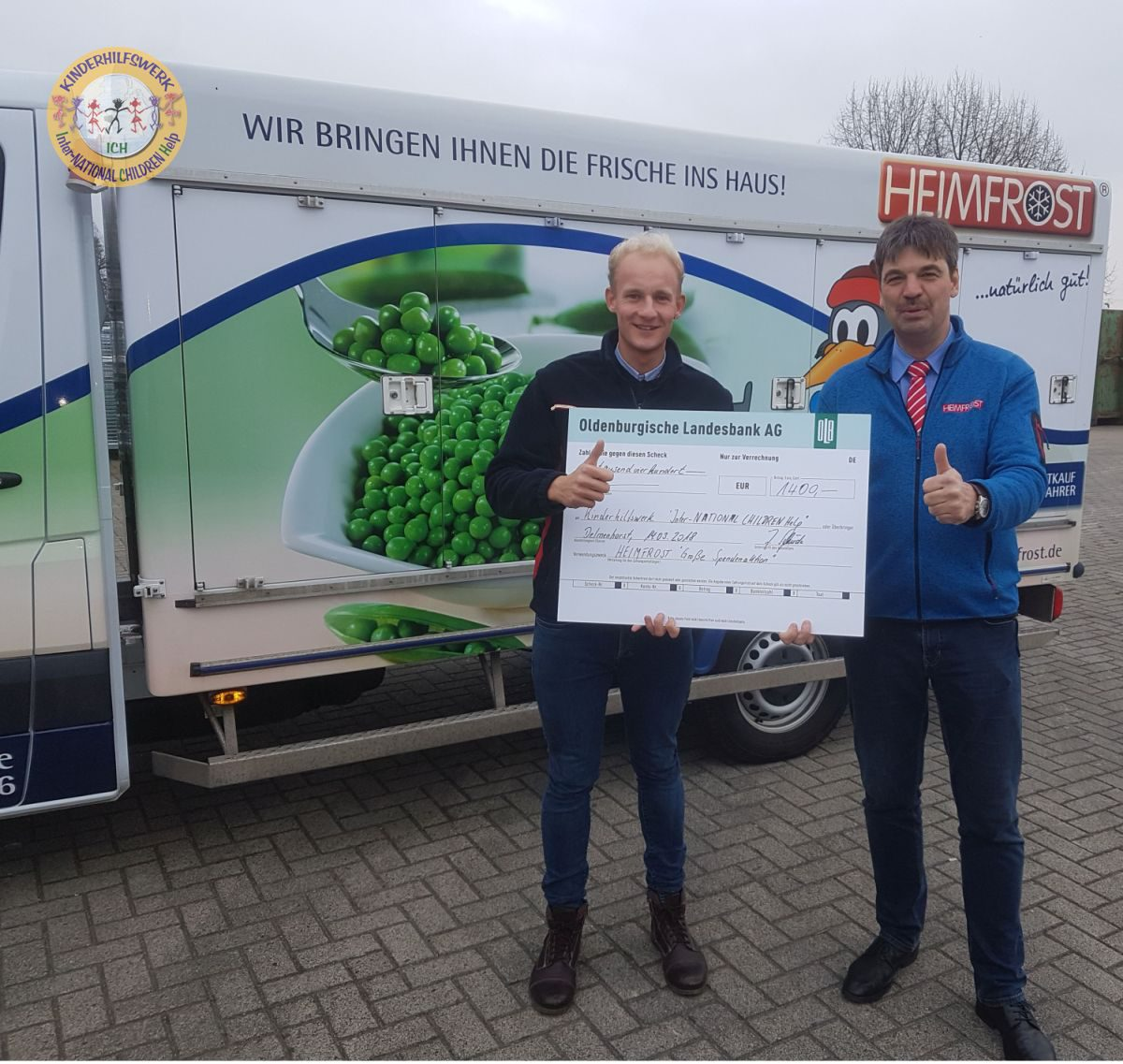 ICH Botschafter Justin Winter und Heimfrost mit neuer Charity-Aktion