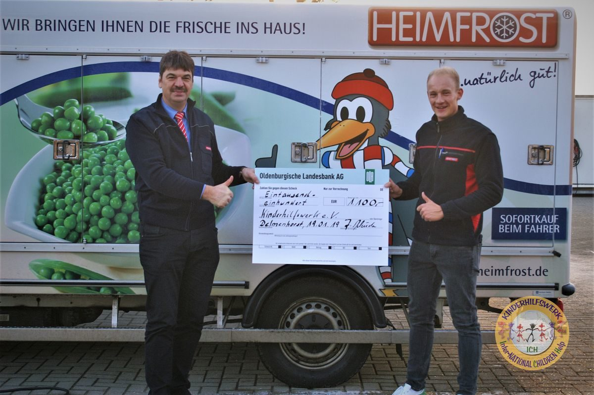 ICH e.V. erhält Spende von Heimfrost