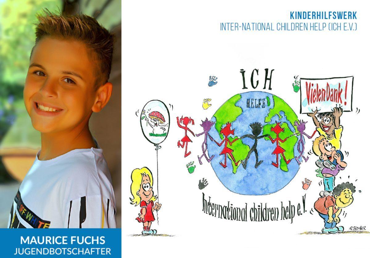 Maurice Fuchs wird Jugendbotschafter des Kinderhilfswerks ICH e.V.