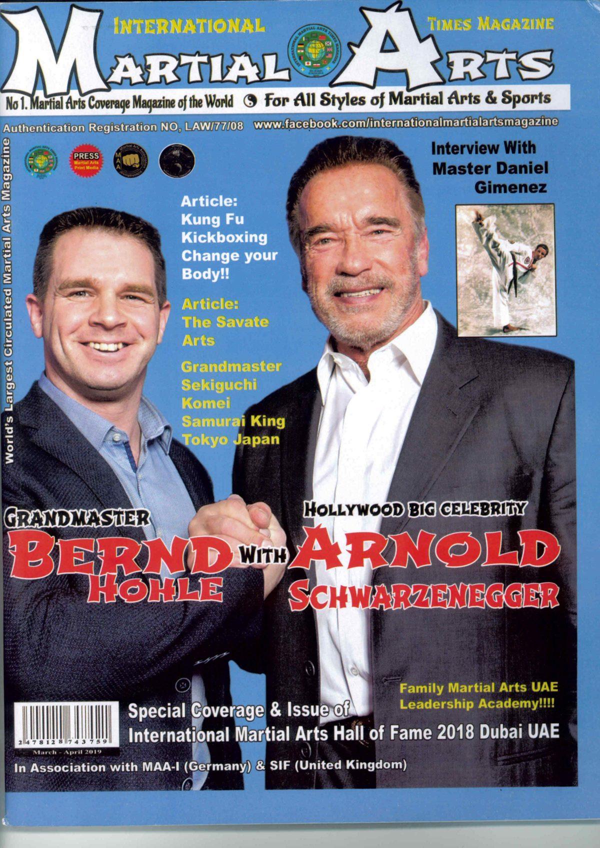 Bernd Höhle und Arnold Schwarzenegger