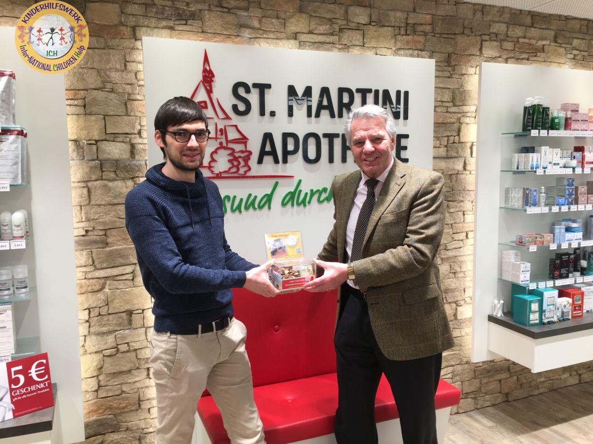 St. Martini Apotheke zu Stadthagen unterstützt Kinderhilfswerk ICH e.V.