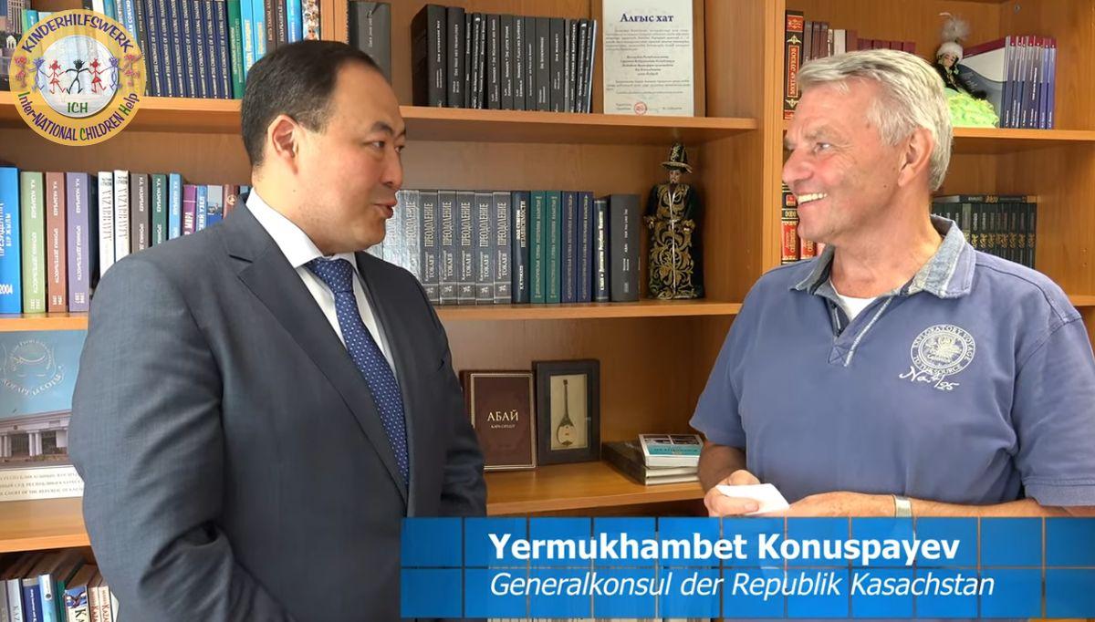 Video: Generalkonsul der Republik Kasachstan zu Gast bei ICH e.V. und Hilfstransport