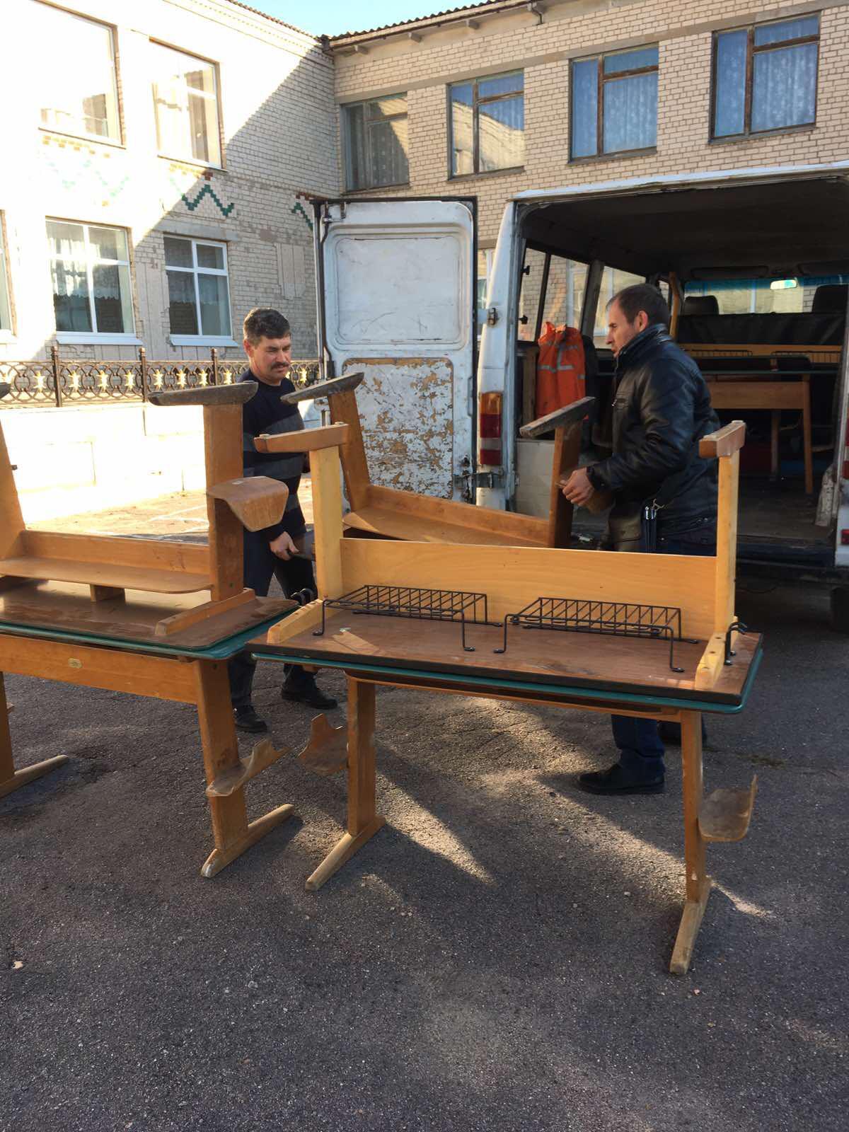 Kinderhilfe: Schulmöbel aus Delmenhorst haben die Ukraine erreicht