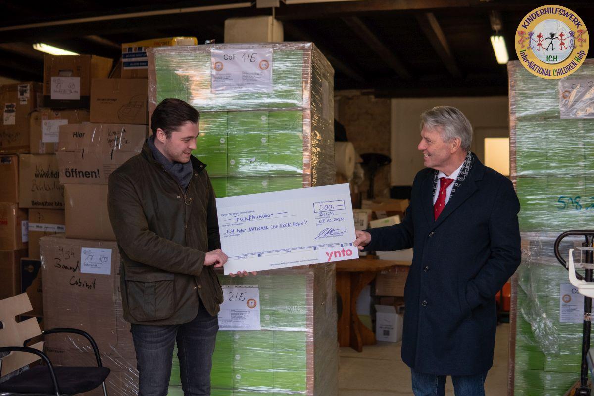 Deutsche Niederlassung der YNTO spendet dem Kinderhilfswerk ICH e.V.