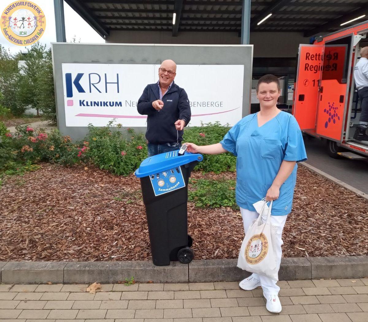 Handy-Sammeltonne für das KRH Klinikum Neustadt am Rübenberge